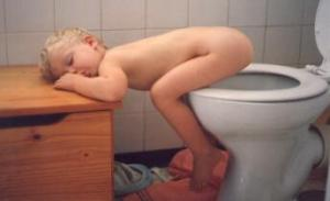 Boy On Toilet